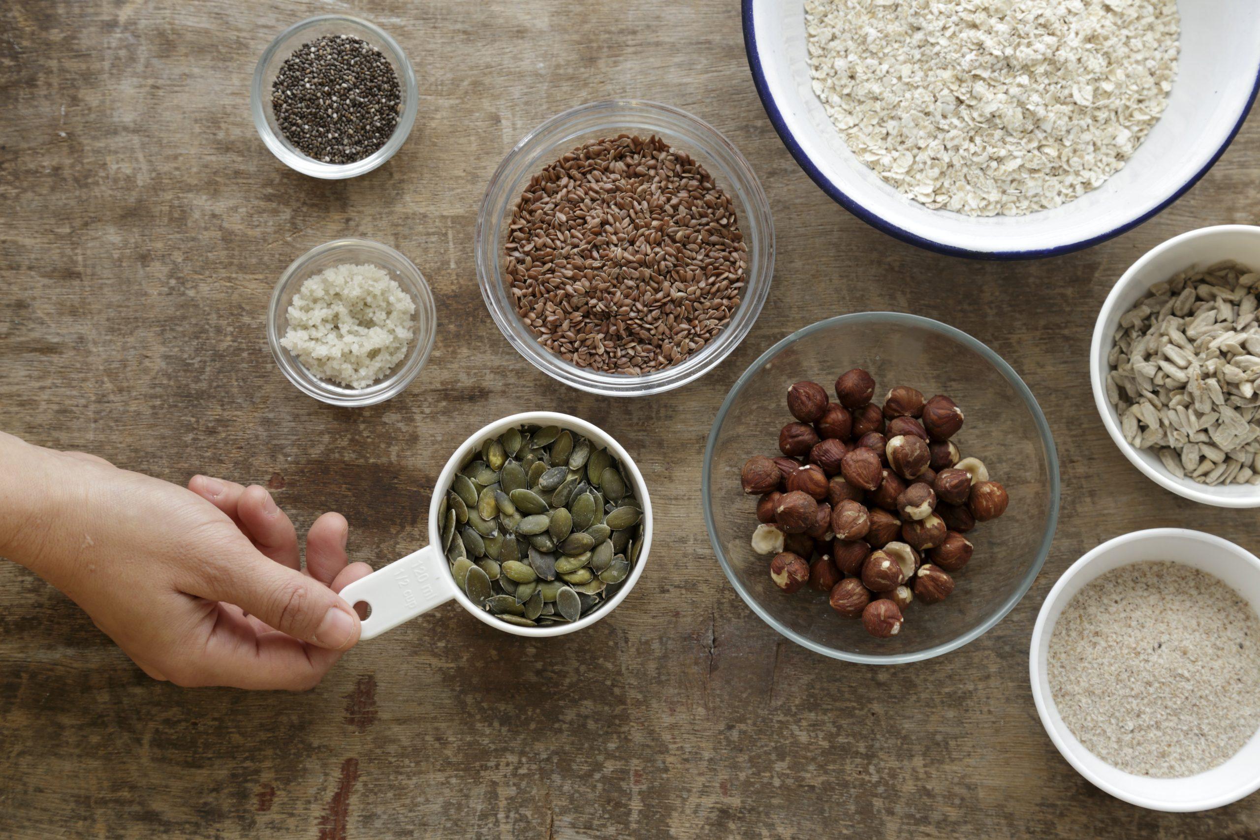 שלב ראשון - מתכון לחם שיבולת שועל וגרעינים בצ'יק צ'ק