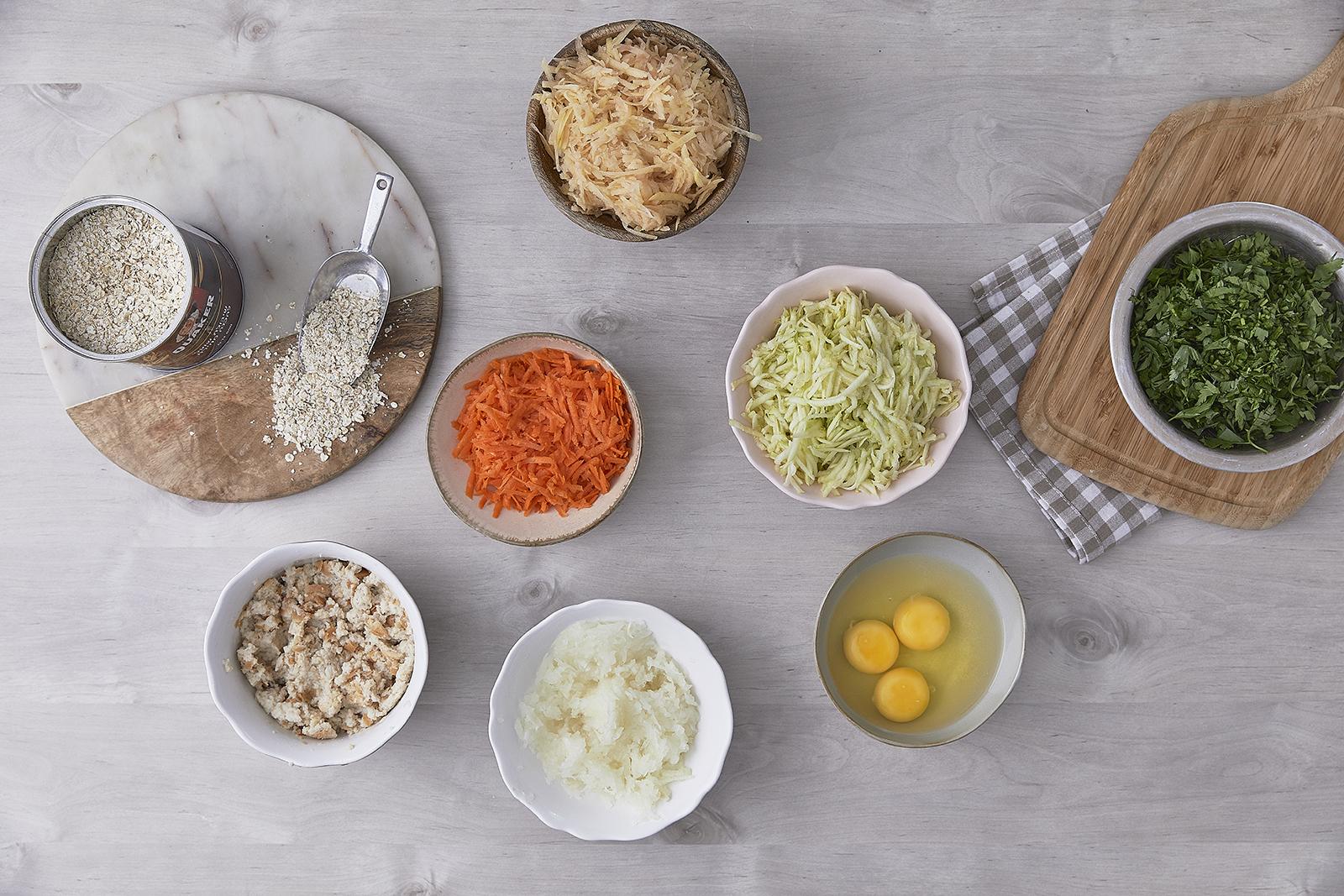 שלב ראשון - עיג'ה – קציצות ירק עם קוואקר