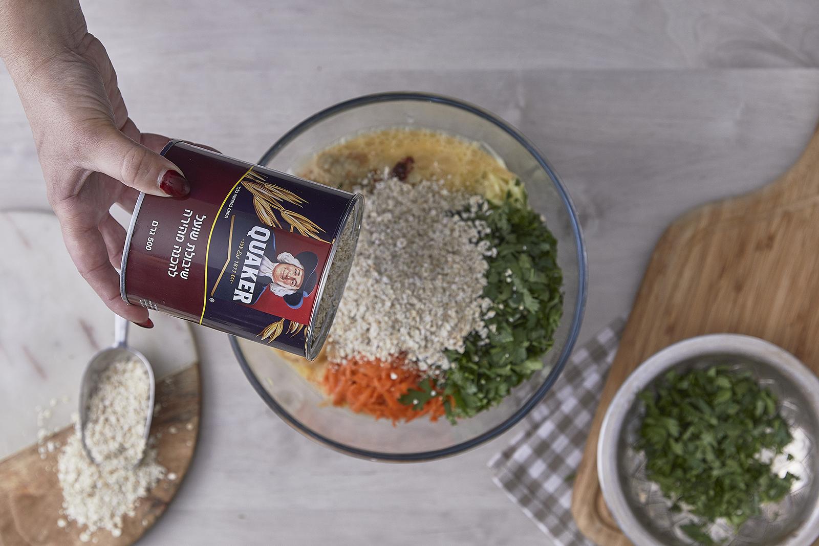 שלב שלישי - עיג'ה – קציצות ירק עם קוואקר